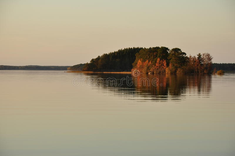 Serene Lake In Sweden Royalty Free Stock Photos