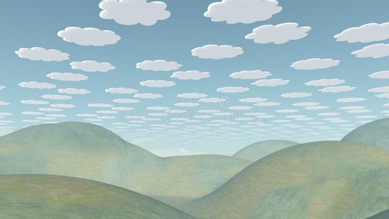 Serene Landscape ilustração royalty free