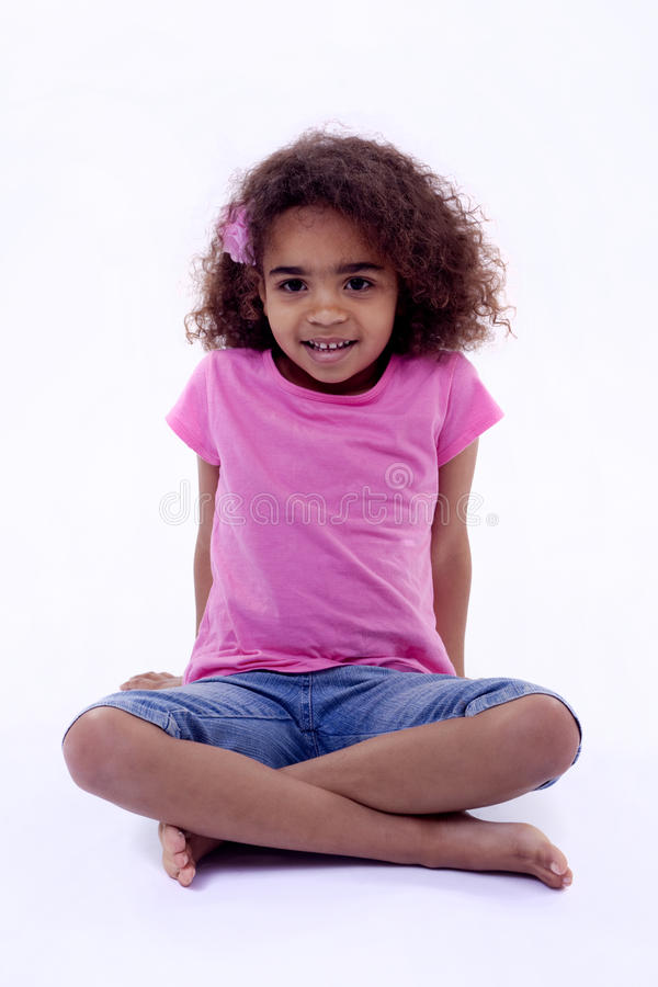 Download Serene little girl stock image. Image of child, gorgeous - 27300209
