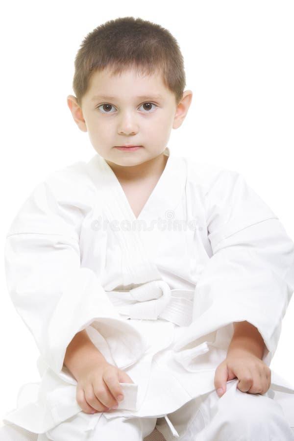 Serene little karate kid