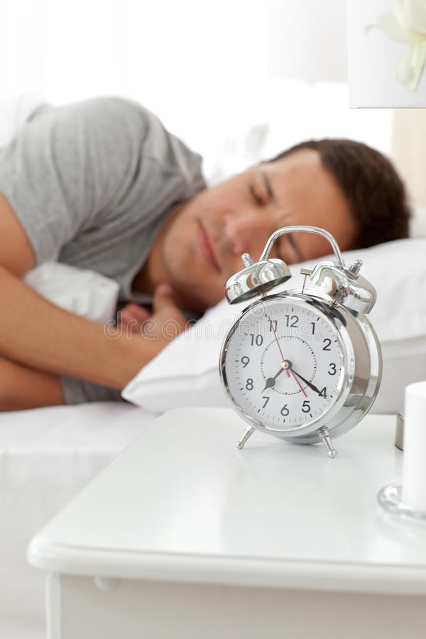 Download Serene Man Lying On His Bed Before Being Woken Up Stock Image - Image: 17469131