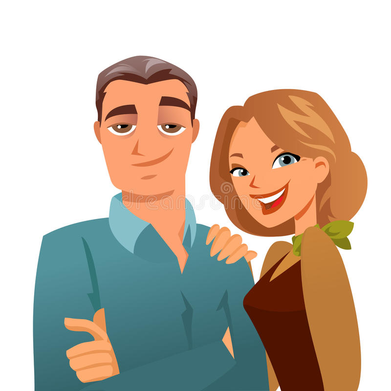 Download Serene mature couple stock vector. Illustration of aged - 23805465