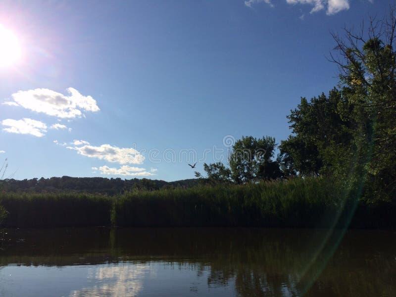 Serene river stock photography