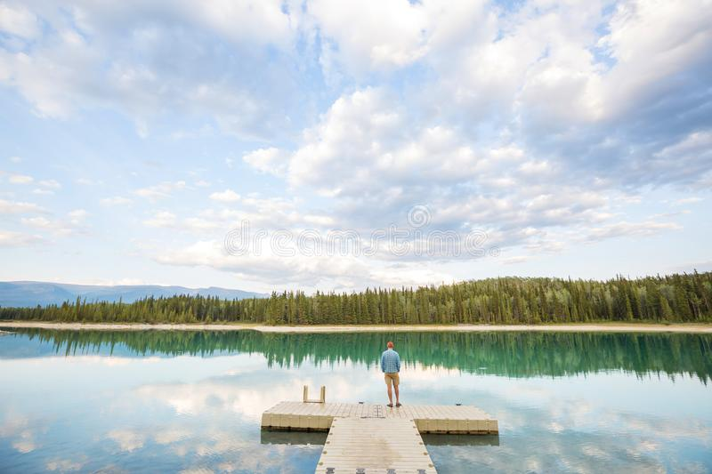 Lake in Canada stock photography