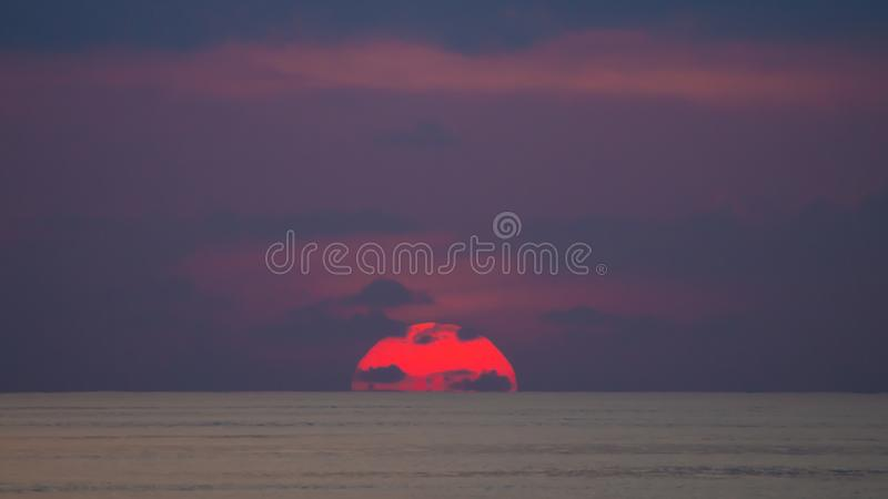Serene Sea Scenery At Sunset royaltyfria foton