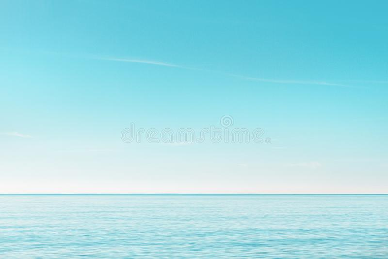 Serene seascape in the morning stock photography