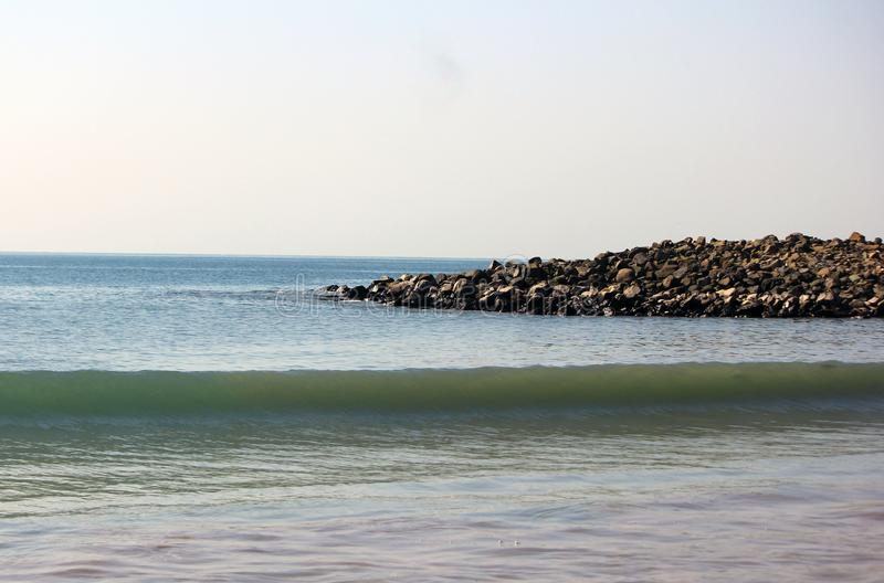 Serene Seascape nära det indiska havet arkivfoton