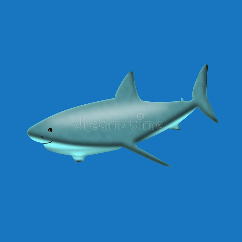 Serene shark. Unfortunetely people kill up to 200 million of sharks every year. We must take care of them. Love animals vector illustration
