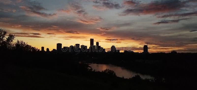 Serene Sky Line Edmonton stockfotografie