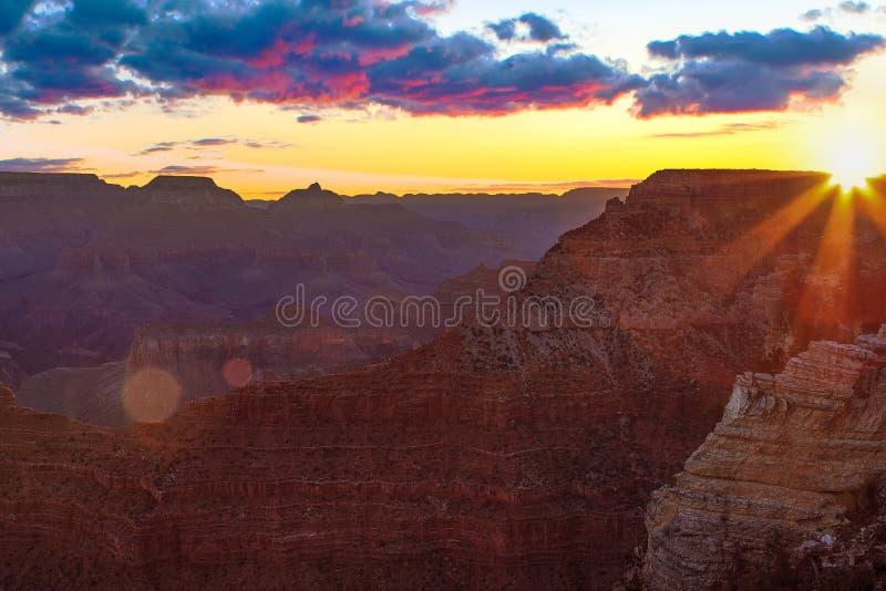 Serene Sunrise chez Grand Canyon photos stock
