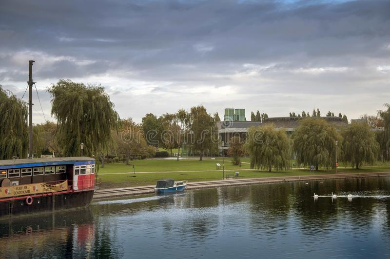 Serene View Nene River royalty free stock photography