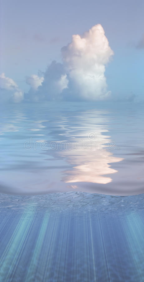 Download Serene water and clouds stock illustration. Illustration of contemplation - 21310557