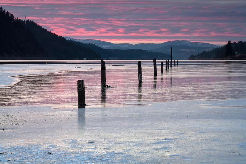 Download Serene Winter Scene At Sunset. Stock Photography - Image: 22337522