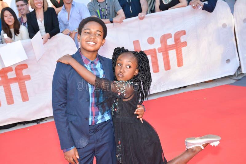 Serenety Brown und Isaac Brown am internationalen Filmfestival Torontos für KÖNIGE führen erstauf stockbild