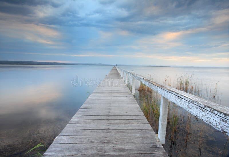Serenidade longa do molhe, Austrália imagens de stock