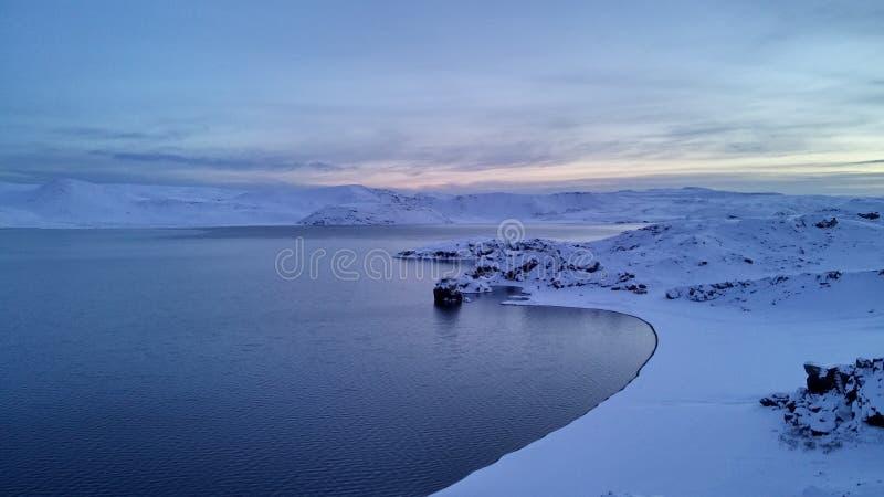 Serenità ghiacciata fotografia stock