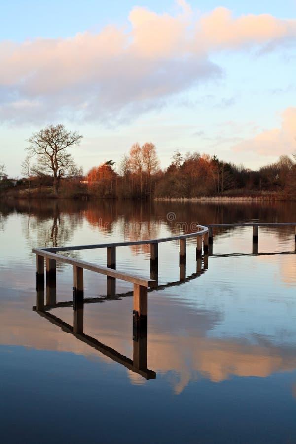 Download Serenity stock image. Image of serene, lake, wood, clouds - 12824405