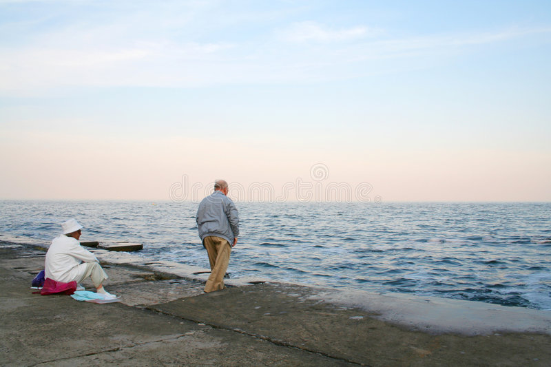 Download Serenity stock image. Image of beach, contemplation, grandfather - 974267