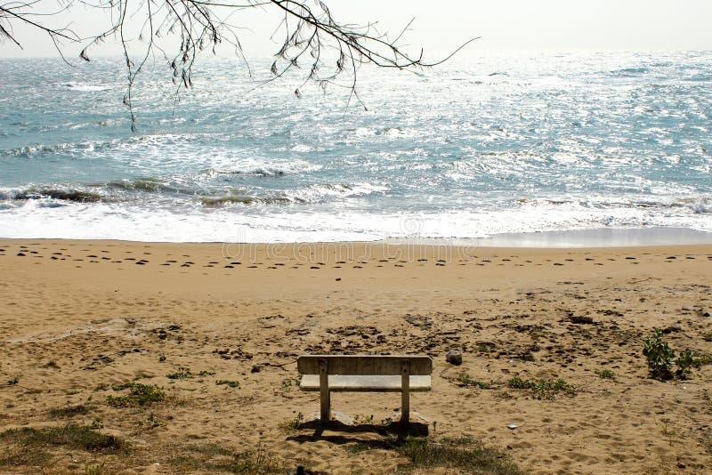 Serenity. Jalandhar Beach, Diu, India royalty free stock image