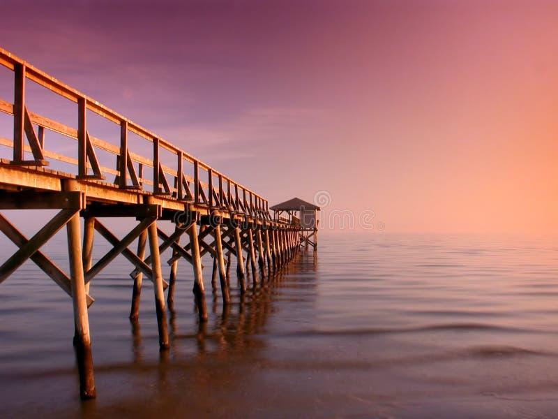 Serenity on Mississippi Pier stock image