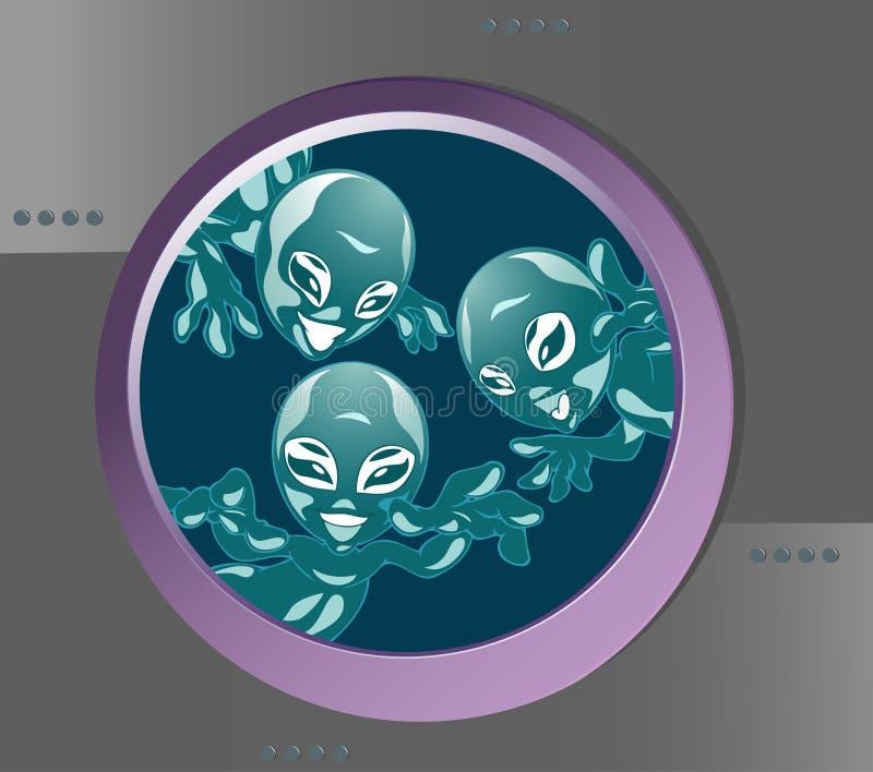 Seres de extraterrestrial engraçados ilustração do vetor
