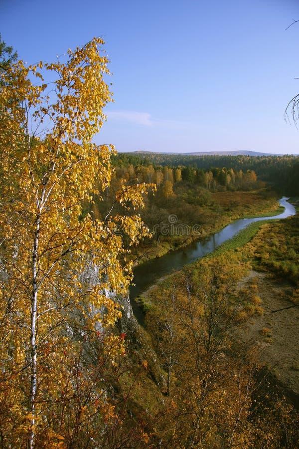 Serga river stock image