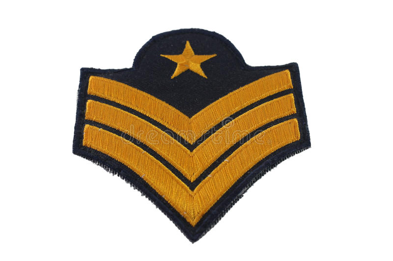 Sergeant. Are commissioned officers is military rank royalty free stock image