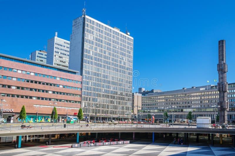 Sergels-torg Stockholm, Schweden stockbild