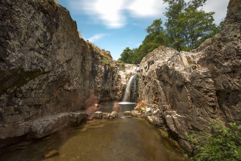 Sergen, cachoeiras do inferno foto de stock royalty free