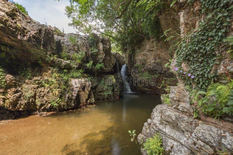 Sergen, hell waterfalls, Kirklareli, Turkey. Turkish Sergen Cehennem Selaleleri royalty free stock photo