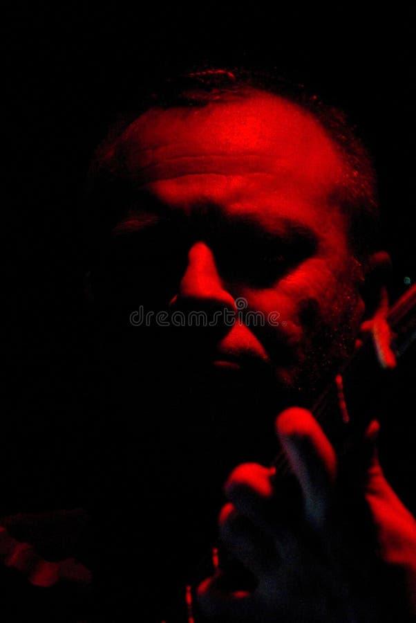 Sergey Kalugin, chanteur de groupe photo libre de droits
