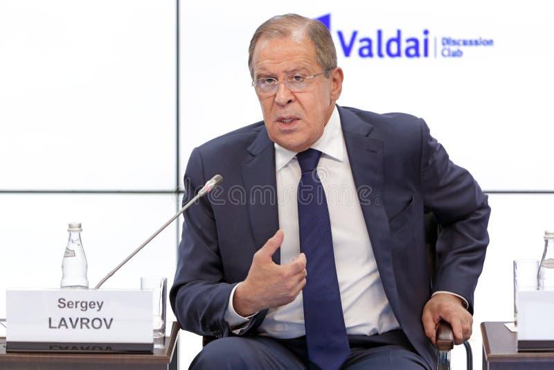 Sergey Lavrov image libre de droits
