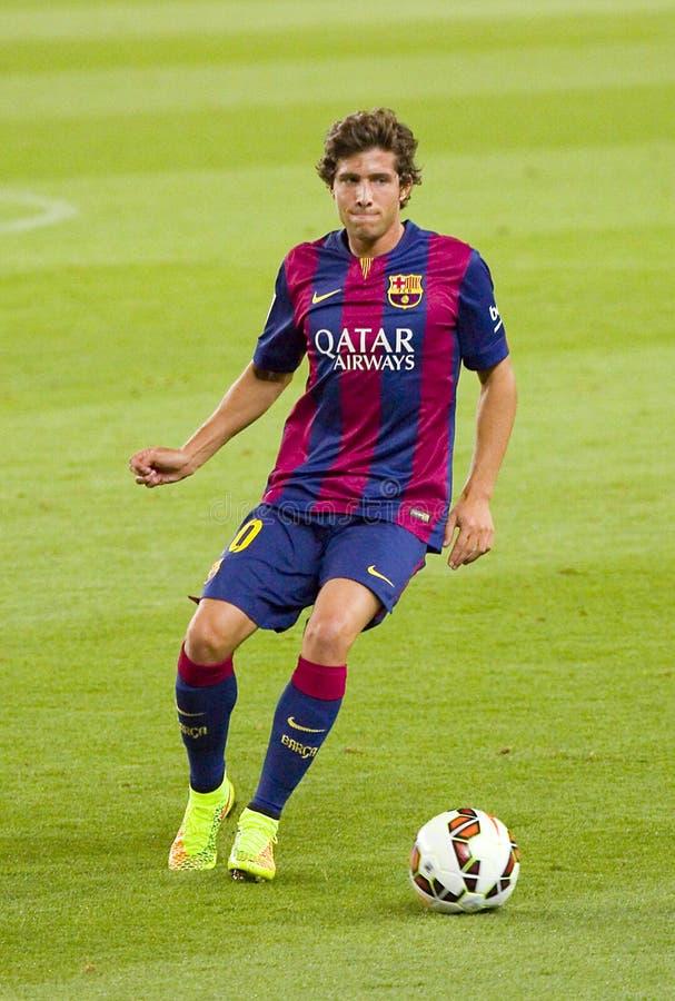 Sergi Roberto of FC Barcelona royalty free stock images