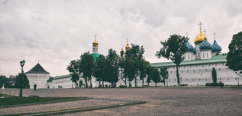 Sergiev Posad Monastery. Monastery in Sergiev Posad, Russian Federation stock photography