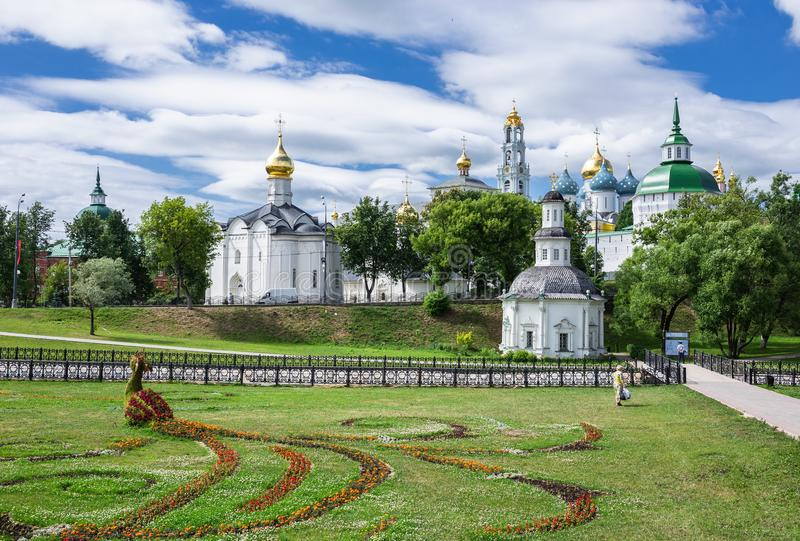 General view of the famous Holy Trinity Sergius Lavra, Sergiev stock photos