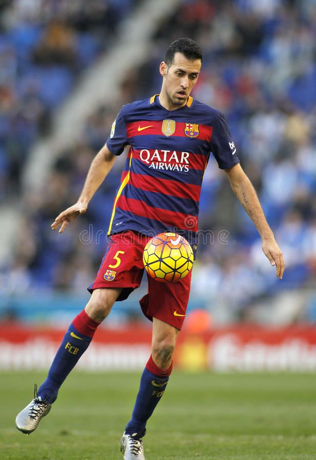 Sergio Busquets de FC Barcelone image stock