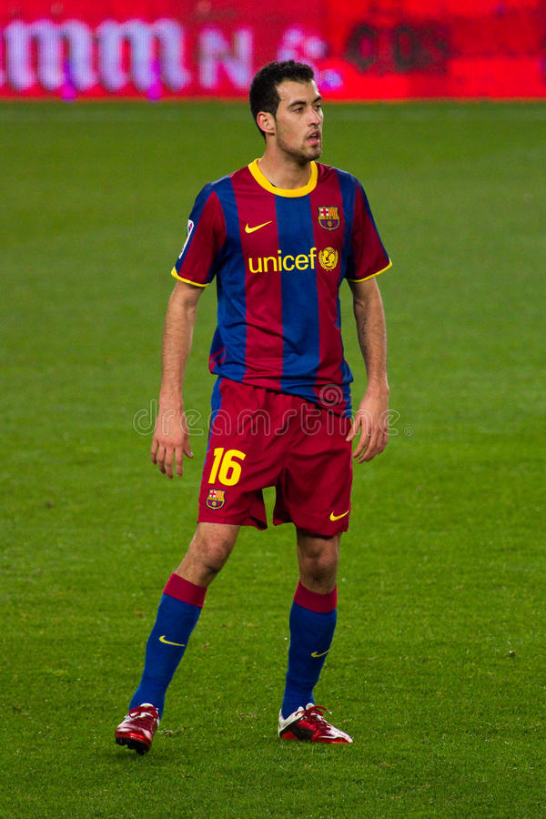 Sergio Busquets (FC Barcellona) fotografia stock libera da diritti