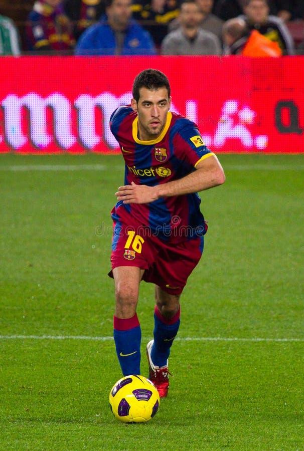 Sergio Busquets (FC Barcelona) royalty-vrije stock foto