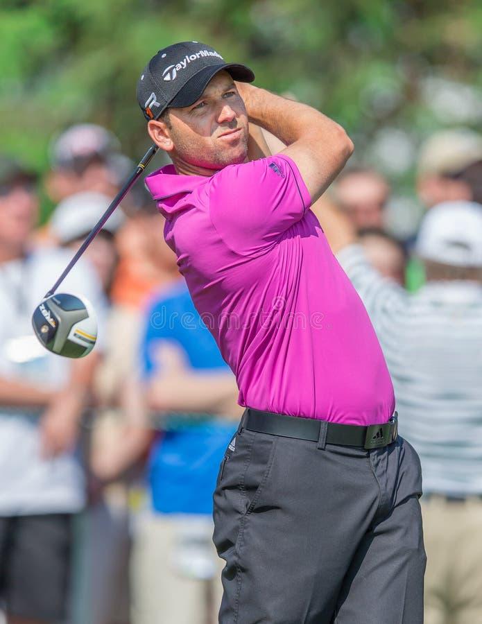 Sergio Garcia à l'US Open 2013 image libre de droits