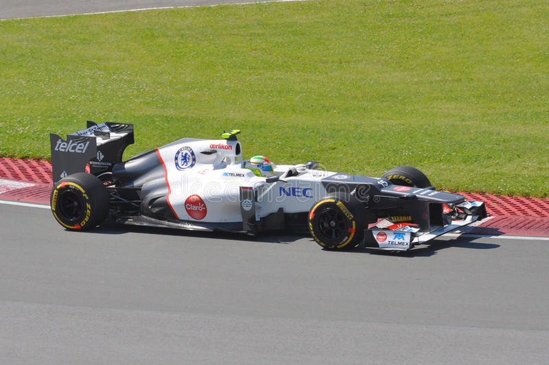 Sergio Perez dans 2012 F1 Prix grand canadien photos stock