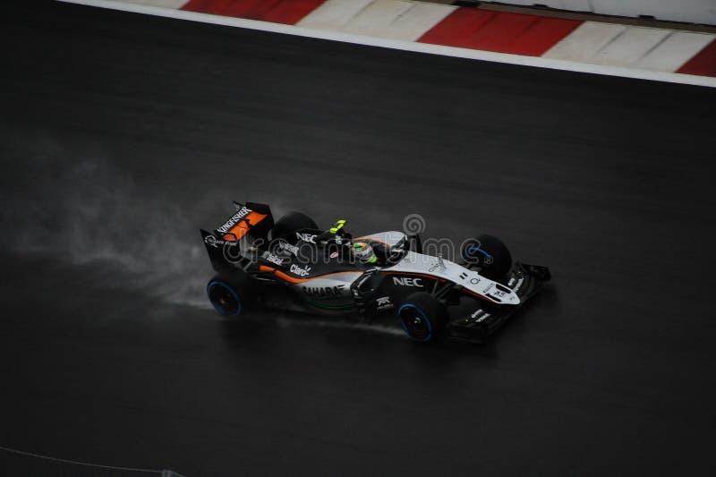Sergio Perez F1 images libres de droits