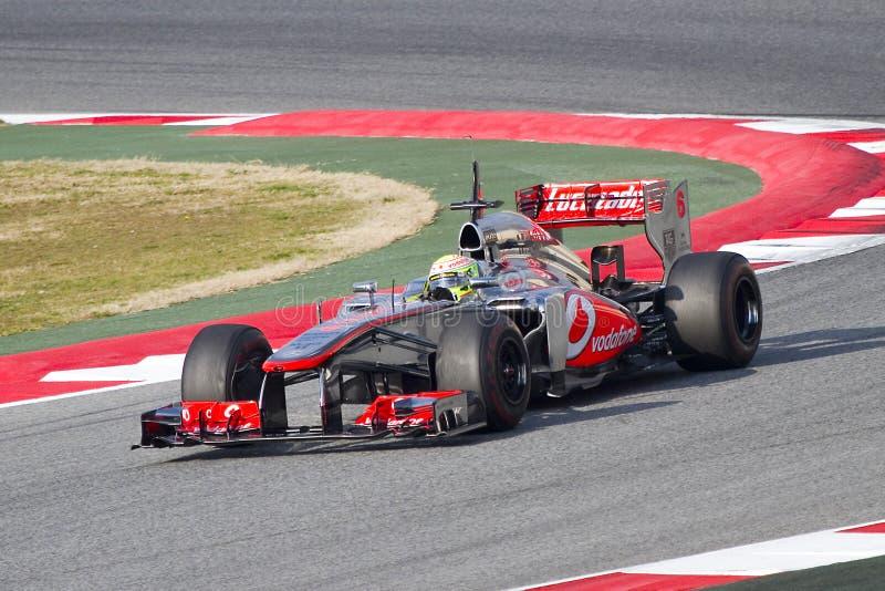 Sergio Perez McLaren MP4-28 image stock