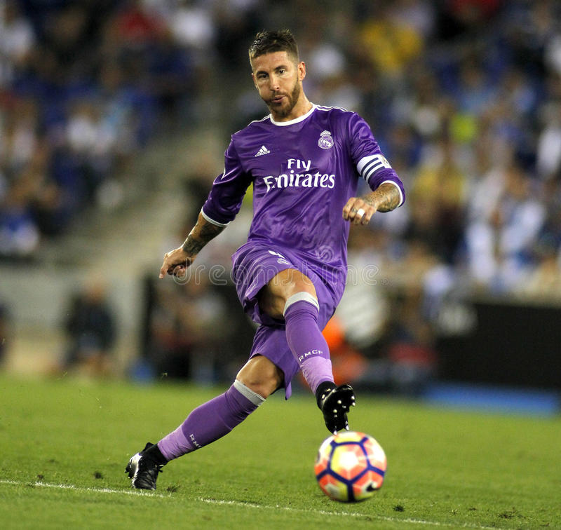 Sergio Ramos de Real Madrid imagem de stock royalty free