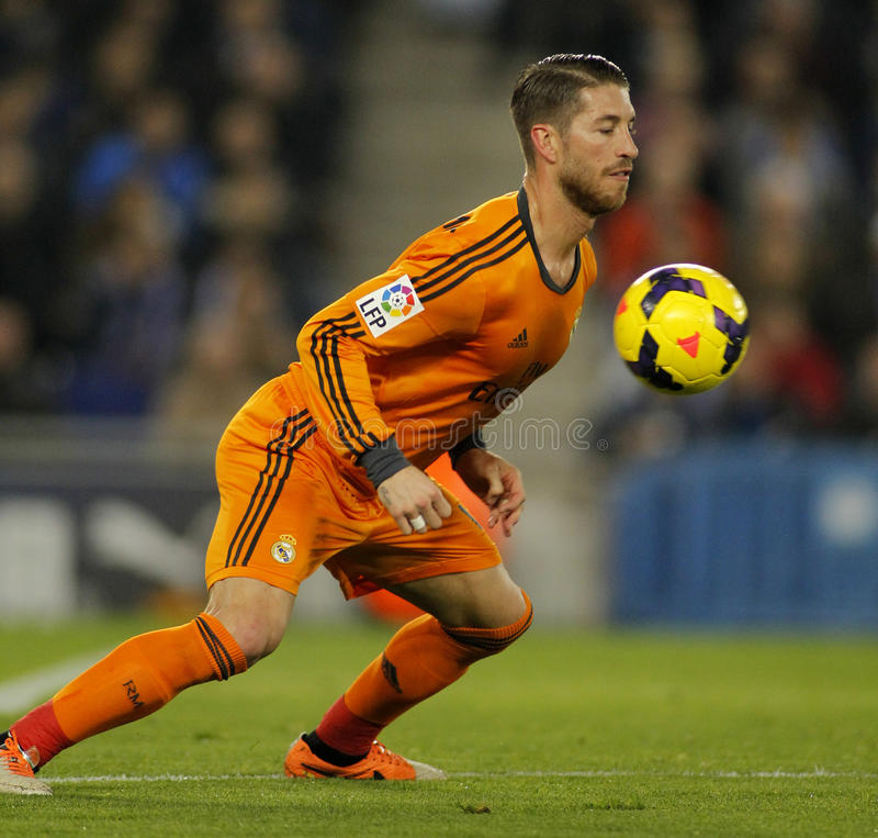 Sergio Ramos do Real Madrid imagem de stock