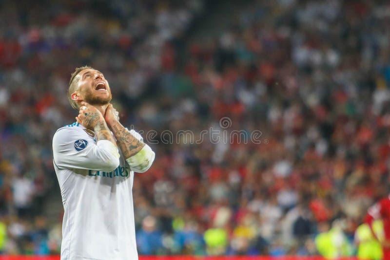 Sergio Ramos futbol obraz stock