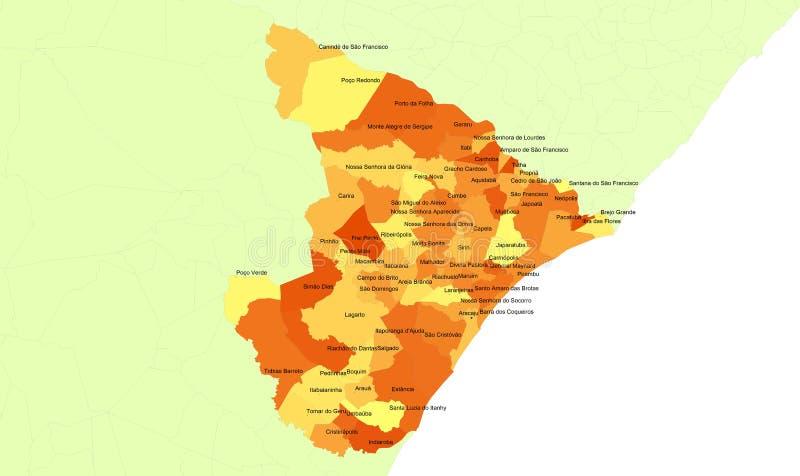 Sergipe Zustand - Brasilien lizenzfreie abbildung