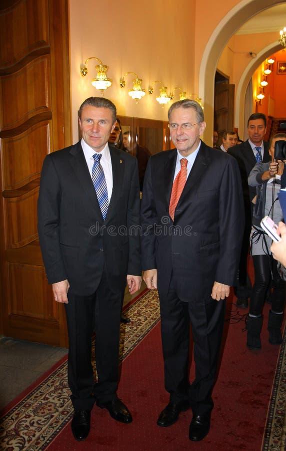 Serhii Bubka And Jacques Rogge Editorial Photo