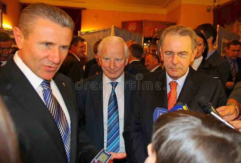 Download Serhii Bubka And Jacques Rogge Editorial Image - Image: 26873900