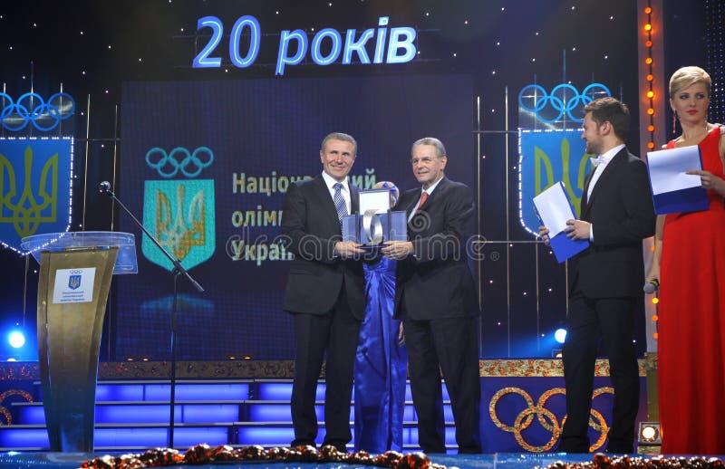Download Serhiy Bubka Und Jacques Rogge Redaktionelles Foto - Bild von europäisch, diskussion: 27728896