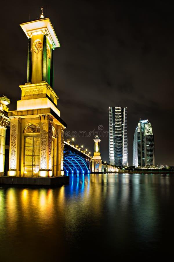 Seri Gemilang桥梁,布城 库存图片